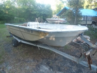 1973 Glassmaster 16.5 ft Tri-Hull